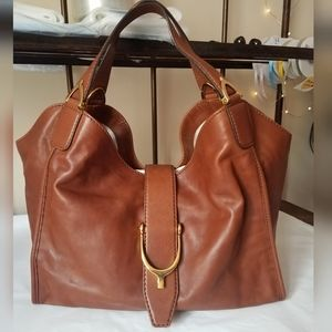 Gucci Marrone  Medium Stirrup Hobo Bag